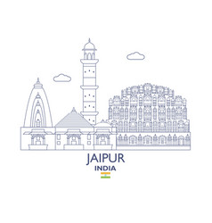 Jaipur city skyline vector