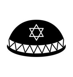 Jewish kippah icon vector