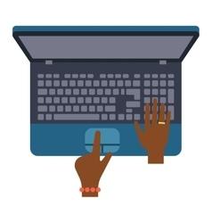 Keyboard hands vector