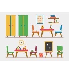 Kindergarten preschool playground vector image