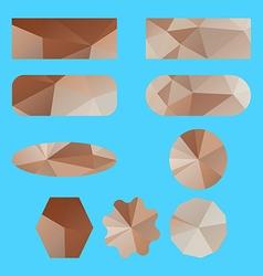 label polygon set vector image