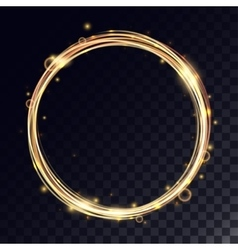 magic circle with light effects vector image