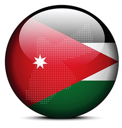 Map with Dot Pattern on flag button of Jordan vector image