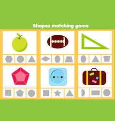 Matching children educational game match objects vector