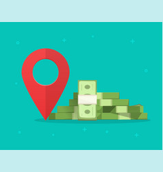 money finance place pointer marker isolated on vector image