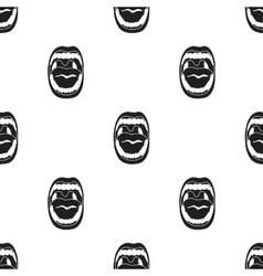 Mouth icon in black style isolated on white vector image