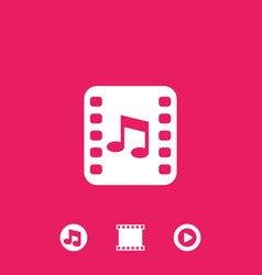 multimedia video and music icons vector image