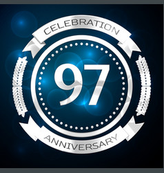 Ninety seven years anniversary celebration with vector