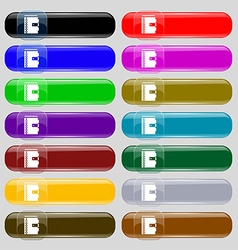 Notebook icon sign Set from fourteen multi-colored vector