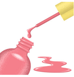 Open bottle of nail polish vector