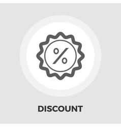Percent label icon flat vector image