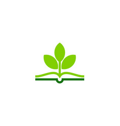 plant book logo icon design vector image