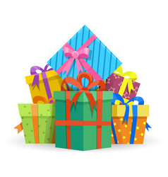 presents or gifts boxes vector image