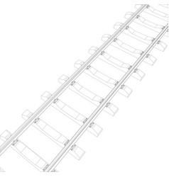 Railway on white vector