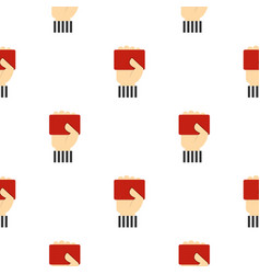Red card pattern seamless vector