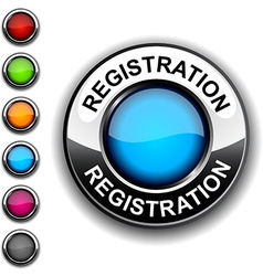 Registration button vector
