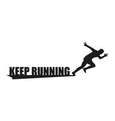 running logo in flat style on white background vector image