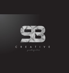 Sb s b letter logo with zebra lines texture vector