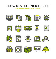 Seo and app development search engine vector
