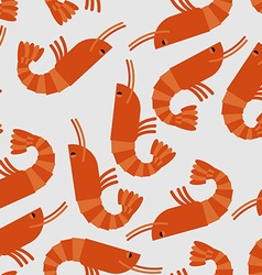 Shrimp seamless pattern Sea delicacy background vector
