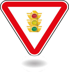 Sign light traffic vector image