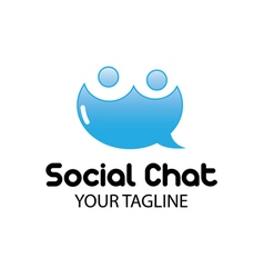 Social Chat Design vector image