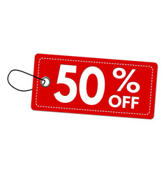 special offer 50 off label or price tag vector image