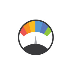 Speedometer gauge with rainbow colors and still vector