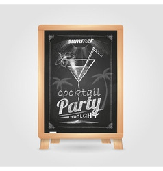 summer party poster disco background vector image