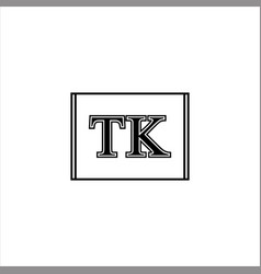 T k letter logo template design vector