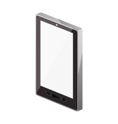 Tech touch tablet camera with buttons vector