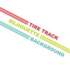 three color tire track lines vector image