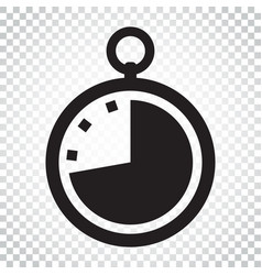 timer icon flat clock pictogram simple business vector image