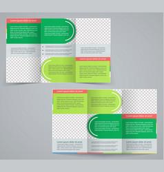 Tri-fold business brochure template vector