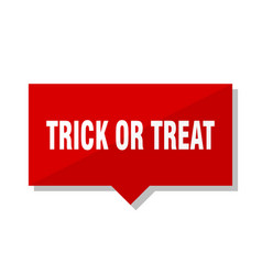 trick or treat red tag vector image