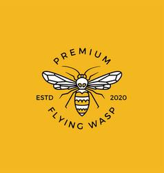 Wasp crest logo emblem badges vector