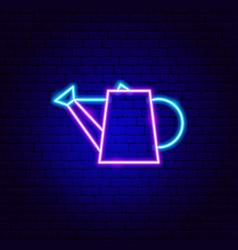 watering pot neon sign vector image