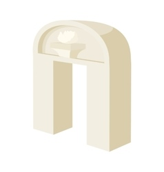 Ancient arch icon in cartoon style vector image