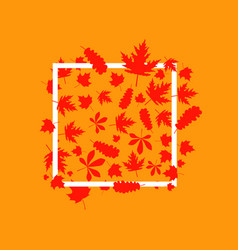 autumnal frame with leaves vector image vector image