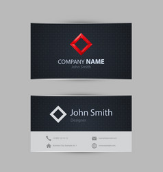 clean dark modern business card vector image