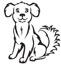 doggy vector image vector image