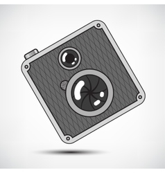 Hipster Retro Photo Camera vector image