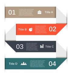 Infographic diagram presentation 4 options vector image