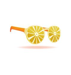lemon sunglasses summer design object vector image vector image