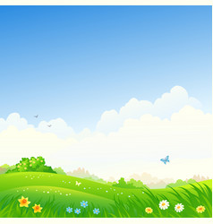 spring square background vector image