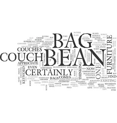 Bean bag couch text word cloud concept vector