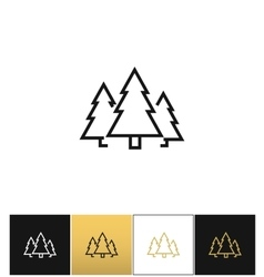 Forest symbol or evergreen trees icon vector image vector image