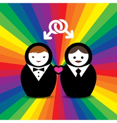 Gay Couple Married Doll vector image