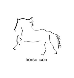 Horse icon on white background vector image vector image