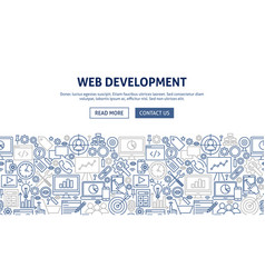 web development banner design vector image